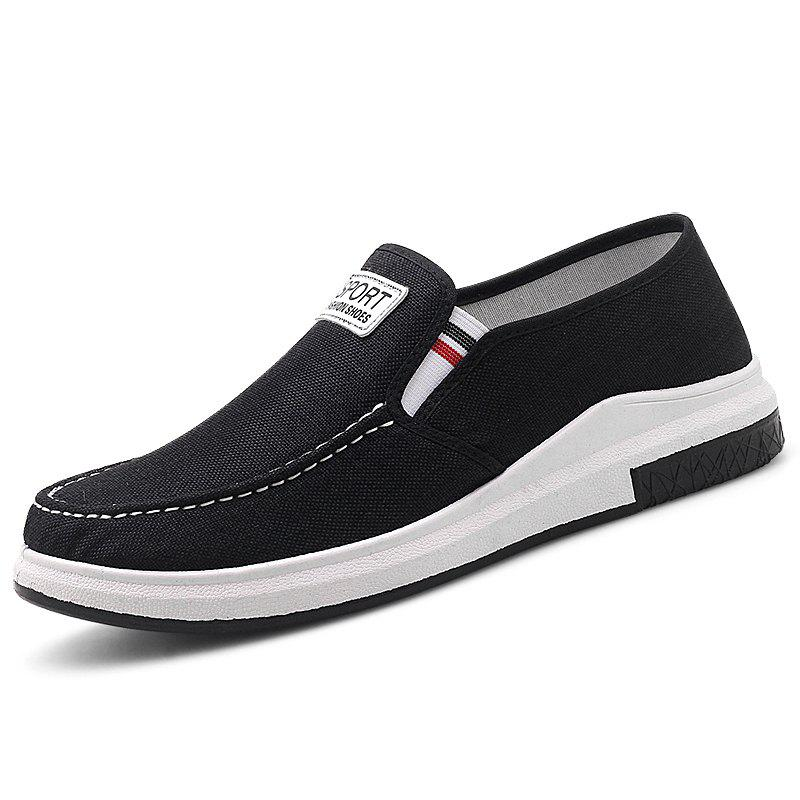 Outfits Stylish Low Top Slip-on Canvas Casual Shoes for Men