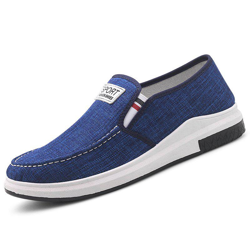 Store Stylish Low Top Slip-on Canvas Casual Shoes for Men