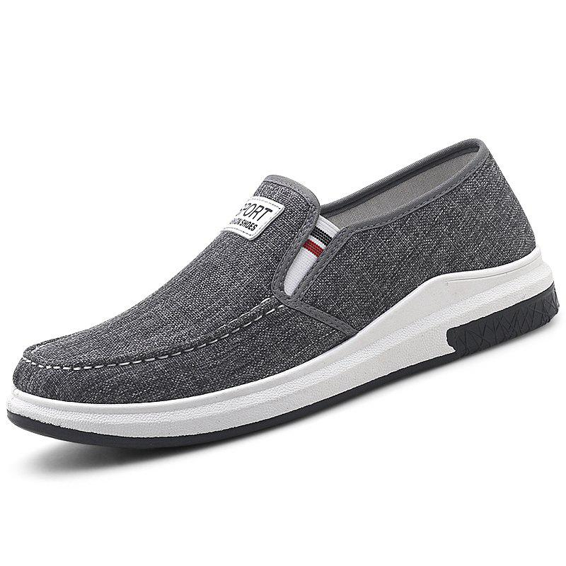 Cheap Stylish Low Top Slip-on Canvas Casual Shoes for Men