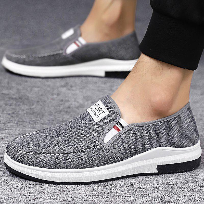 Discount Stylish Low Top Slip-on Canvas Casual Shoes for Men