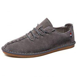 Pigskin Casual Flat Shoes for Men -