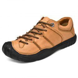 Fashionable Breathable Outdoor Leather Sneakers -