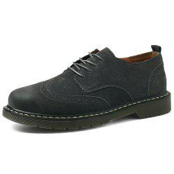 Men Lace Up Leather Casual Shoes -