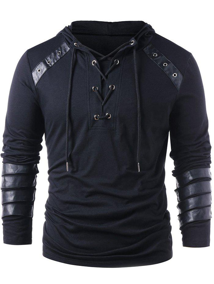 Hot Stylish Lace Up Drawstring Hoodie for Men