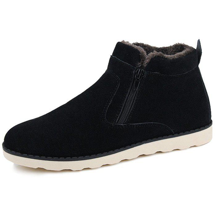 Outfits Winter Warm Zipper Casual Shoes Boots for Men
