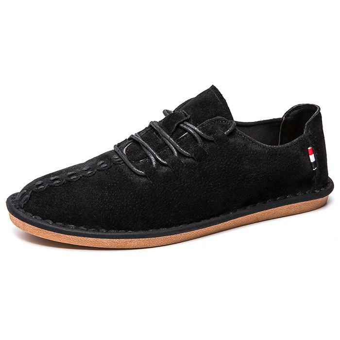 Fancy Pigskin Casual Flat Shoes for Men