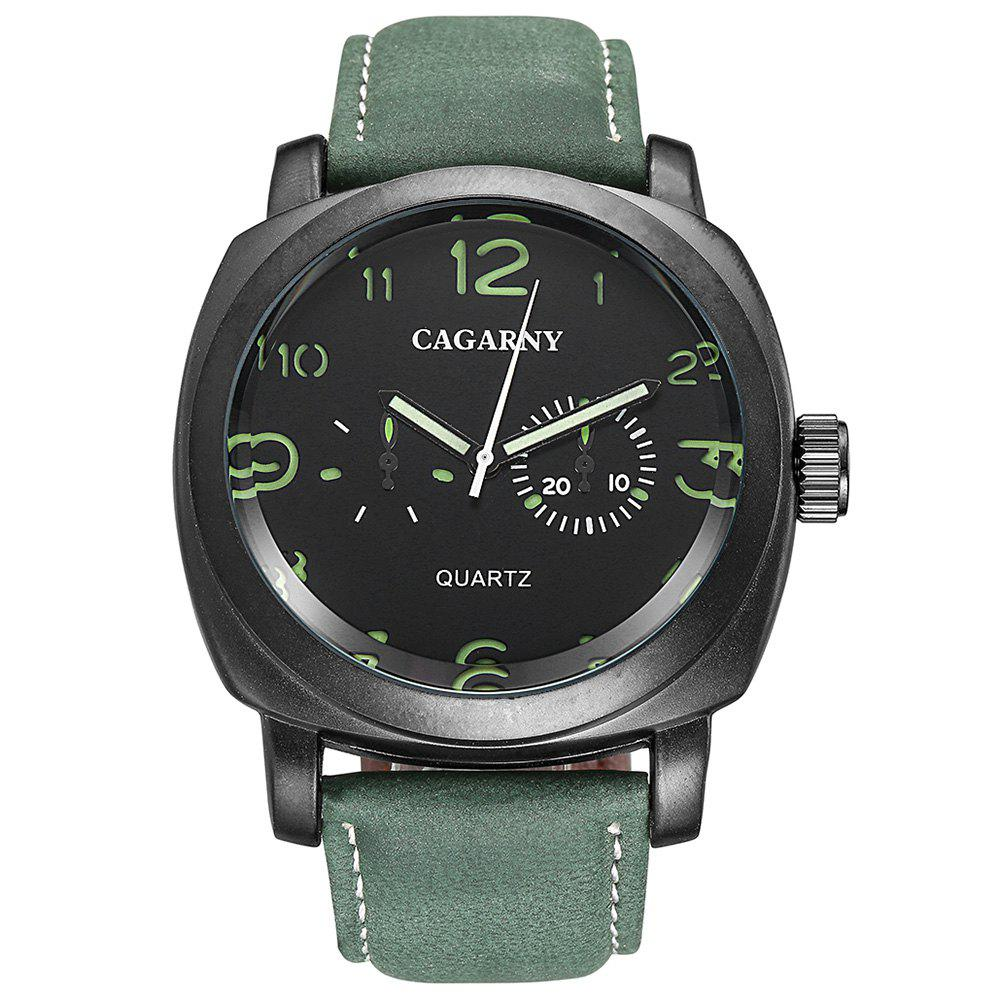 Affordable Cagarny 6833 Men's Leather Quartz Watch