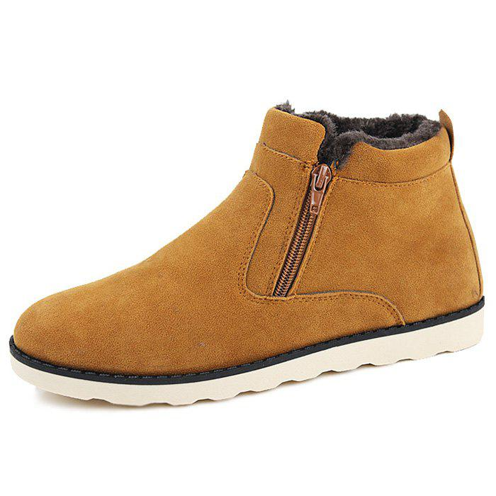 Store Winter Warm Zipper Casual Shoes Boots for Men