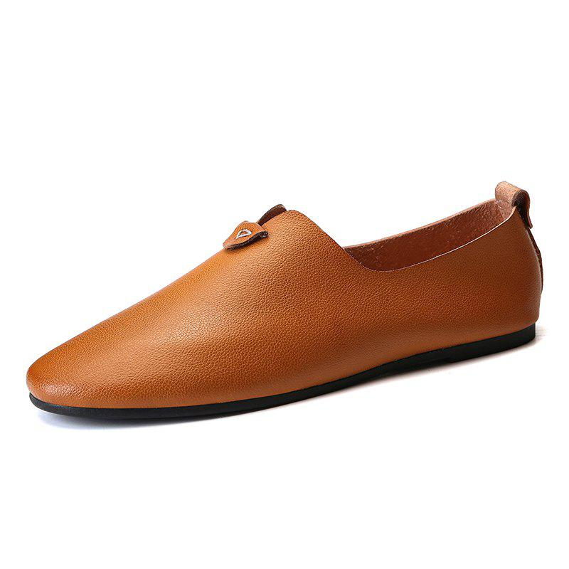 Latest Fashion Durable Comfortable Leisure Slip-on Casual Leather Shoes for Men