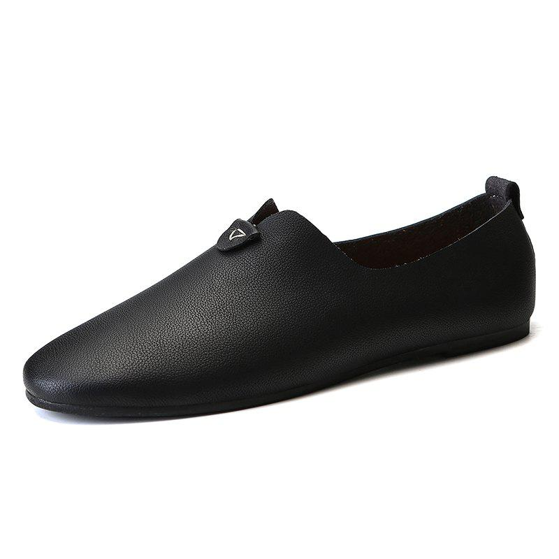 Unique Fashion Durable Comfortable Leisure Slip-on Casual Leather Shoes for Men