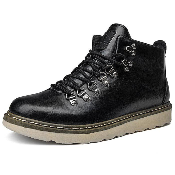 Online Stylish Anti-slip Lace-up Boots for Men