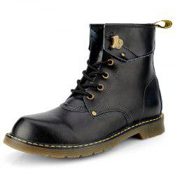 Stylish High-top Retro Lace-up Boots for Men -