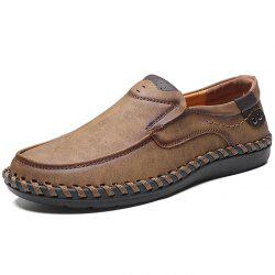 Microfiber Leather Casual Flat Shoes for Men -