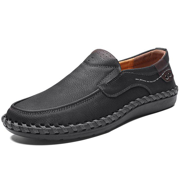 Outfit Microfiber Leather Casual Flat Shoes for Men