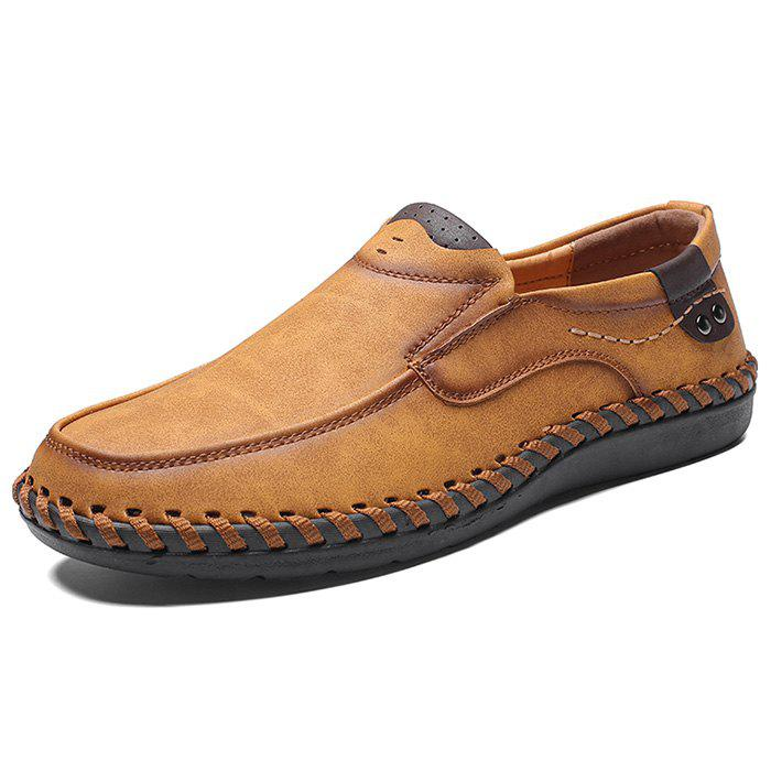 Fashion Microfiber Leather Casual Flat Shoes for Men