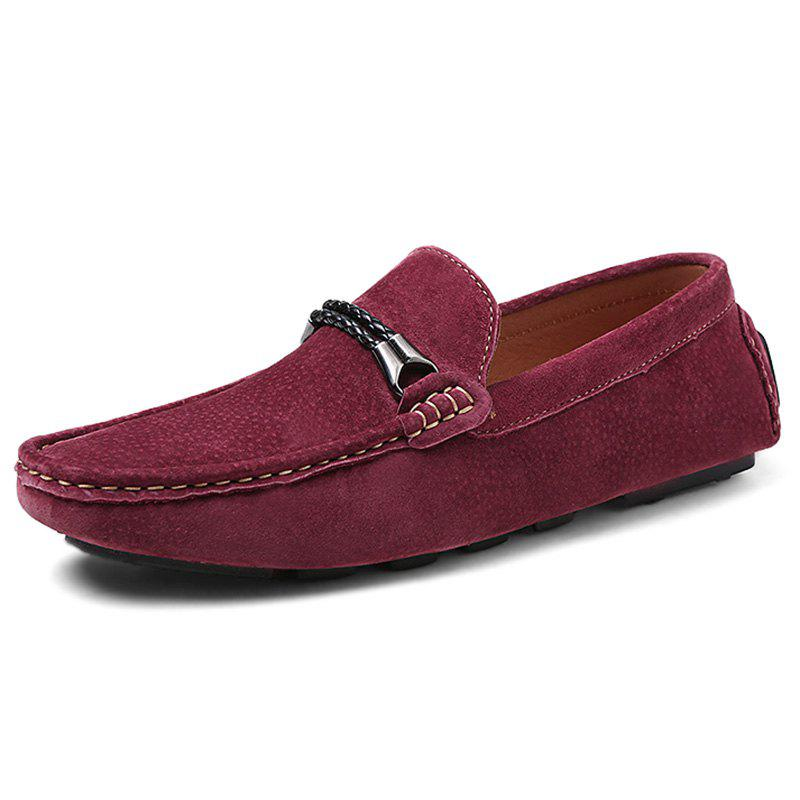 Outfits Fashion Suede Flat Shoes Loafers for Men