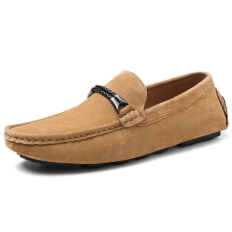 Online Fashion Suede Flat Shoes Loafers for Men