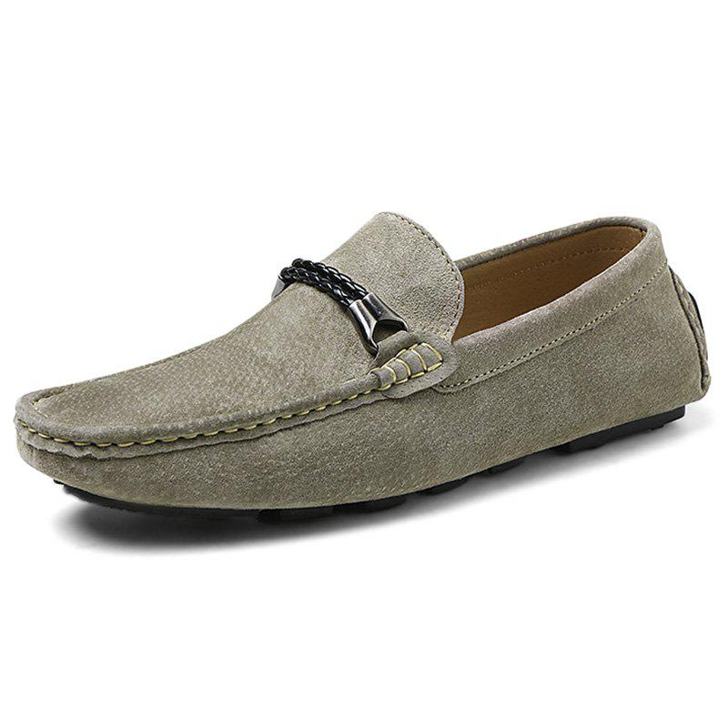 Outfit Fashion Suede Flat Shoes Loafers for Men