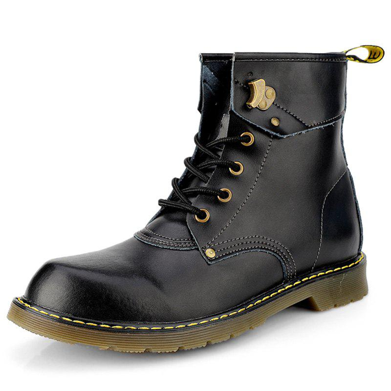 Discount Stylish High-top Retro Lace-up Boots for Men