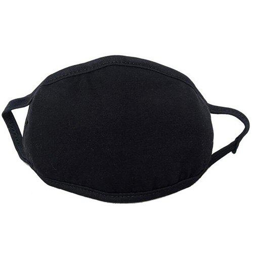Masque Souple Respirant Pliable Flexible en Plein Air Noir