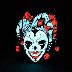 Evil Clown Pattern Illuminated Voice Control Mask -