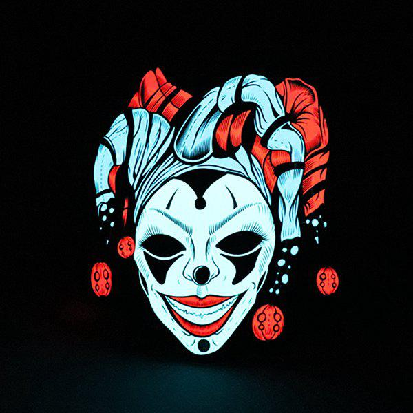 Unique Evil Clown Pattern Illuminated Voice Control Mask