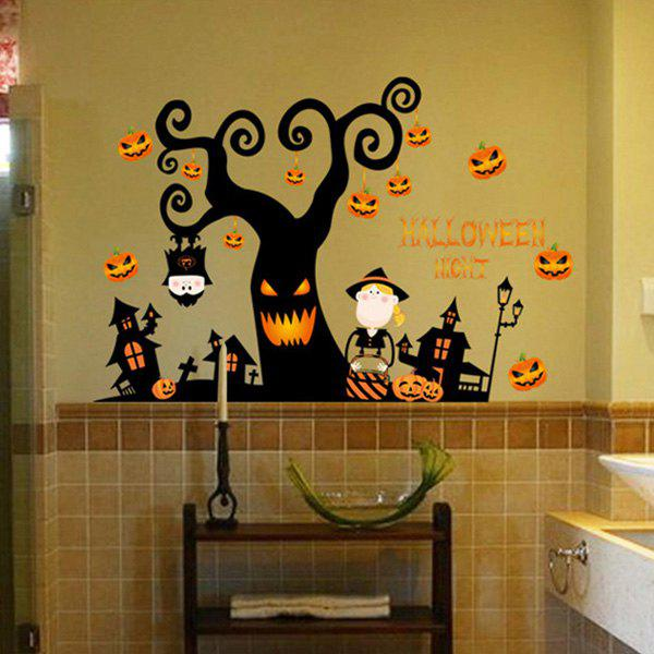 Creative Wall Sticker for Halloween Vitrine Door Decoration
