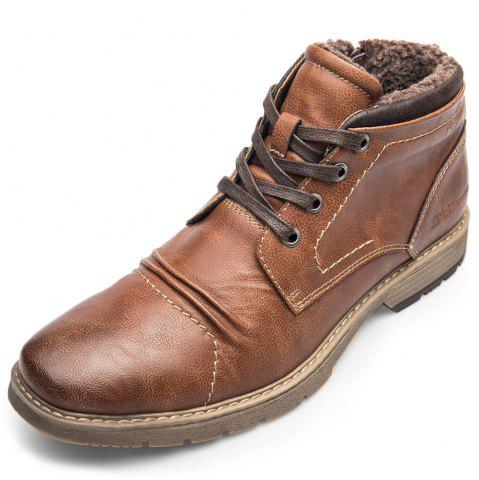 XPER Warm Comfortable Leisure High-top Lace-up Boots for Men