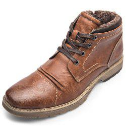 XPER Warm Comfortable Leisure High-top Lace-up Boots for Men -