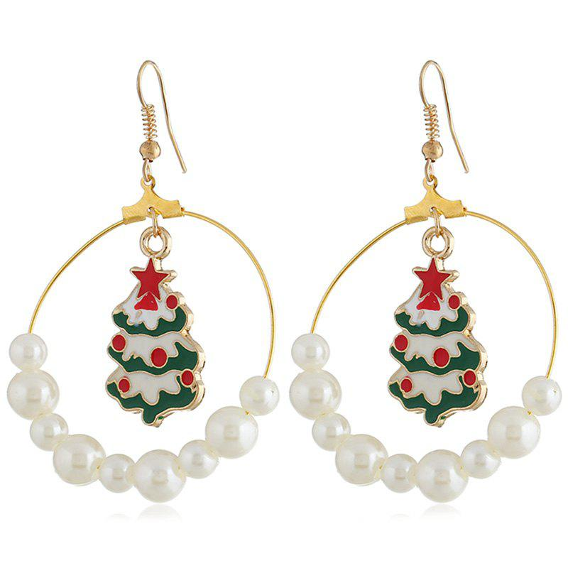 Outfit Stylish Christmas Tree Pattern Earrings 1 Pair