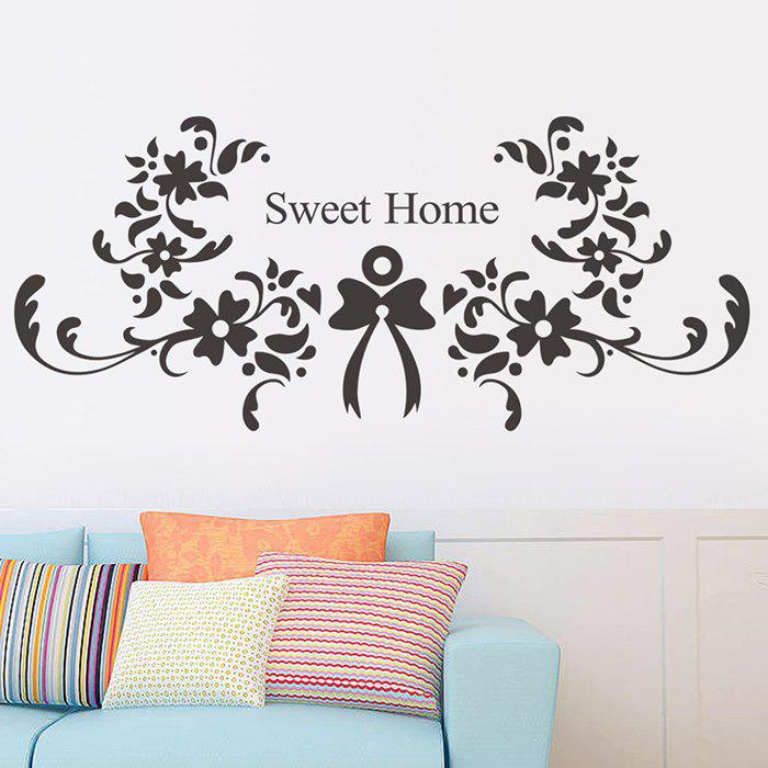 New Sweet Home Flower Vine Pattern Wall Sticker for Bedroom Sofa Backdrop Decoration