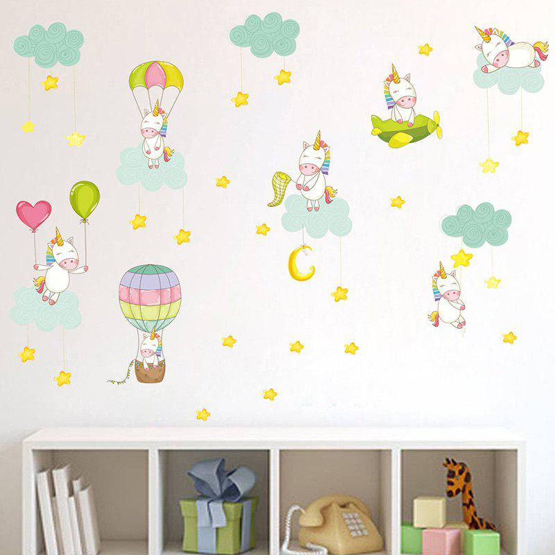 Cheap Sweet Pink Unicorn PVC Sticker Wallpaper for Room Decoration