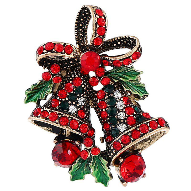 Trendy BR1349 Vintage Bell Style Christmas Brooch