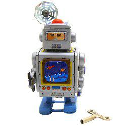 Creative Retro Tin Space Robot Ornament Clockwork Toy -