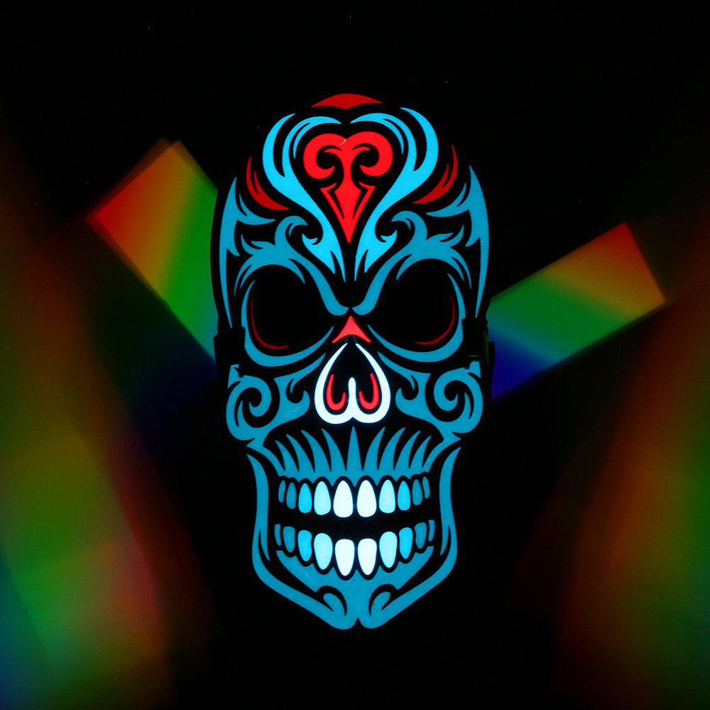 New LED Voice Control Horror Skull Glowing Mask