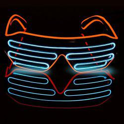 Halloween Voice-activated Mixed-color Illuminating Glasses Toys -