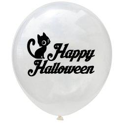 Halloween Theme White Balloon 10pcs -