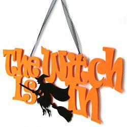 Nonwoven Halloween Door Hang Wall Party Decoration The Witch Is In Pendant - Многоцветный-A