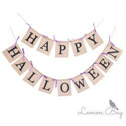 Halloween Party Pull Flag 2pcs -