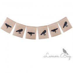 Halloween Crow Banner Pull Flag -
