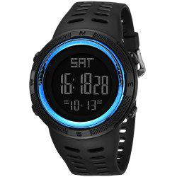 PANARS Men Digital Watch avec bande en plastique -