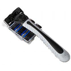 Manual Shaver Razor with 4 Cutting Heads -
