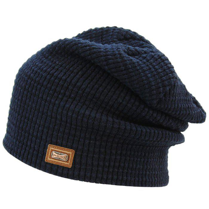 464eb0bbe144e 2019 Jamont Warm Solid Color Acrylic Fiber Knitted Hat For Men ...