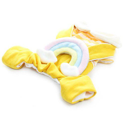 Rainbow Style Pet Rompers for Autumn Winter