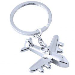 Creative Aeroplane Metal Car Key Chain Ring -