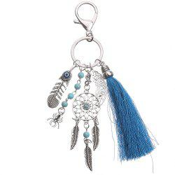 Bohemian Style Thread Tassels Key Chain for Keys and Women Bag Pendant -