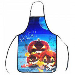 Halloween Kitchen Funny Portable Anti-Oil Apron -