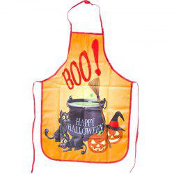 Halloween Kitchen Portable Funny Anti-Oil Apron -