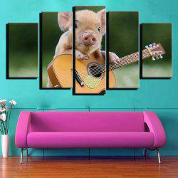 Modern Unframed Prints High Definition Pig Wall Art 5PCS -