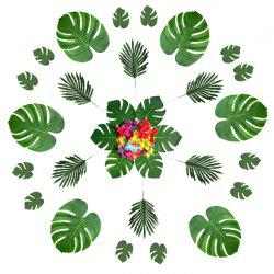 Hawaii Turtle Leaf Hibiscus Artificial Flowers 60pcs -
